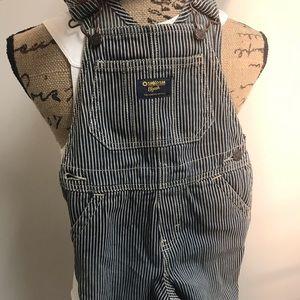 Osh kosh overalls, 3t, blue and white